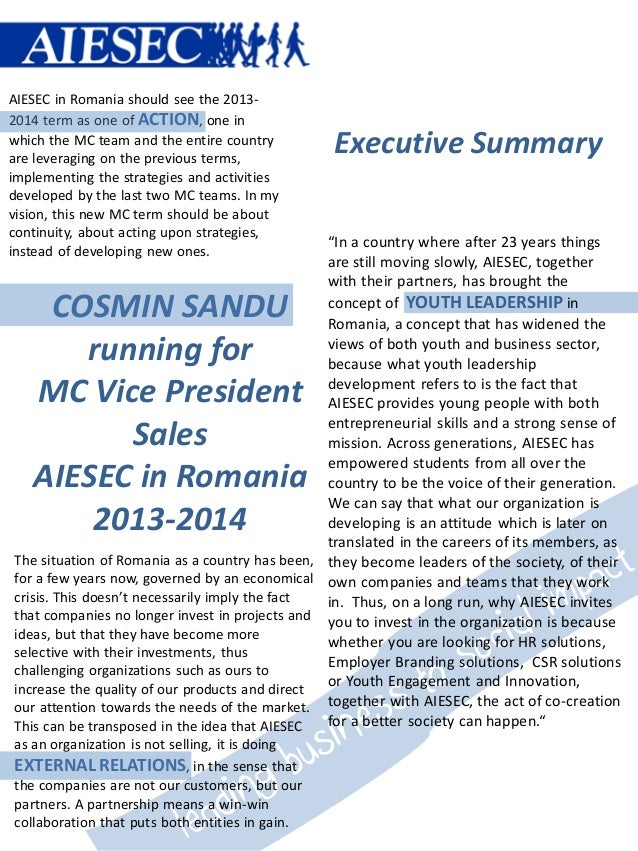 AIESEC in Romania should see the 2013-2014 term as one of ACTION, one inwhich the MC team and the entire countryare levera...