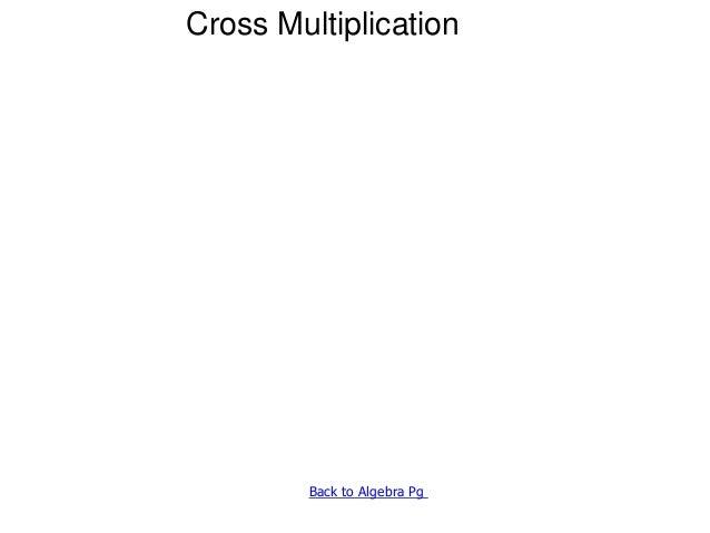 1 f7 on cross-multiplication