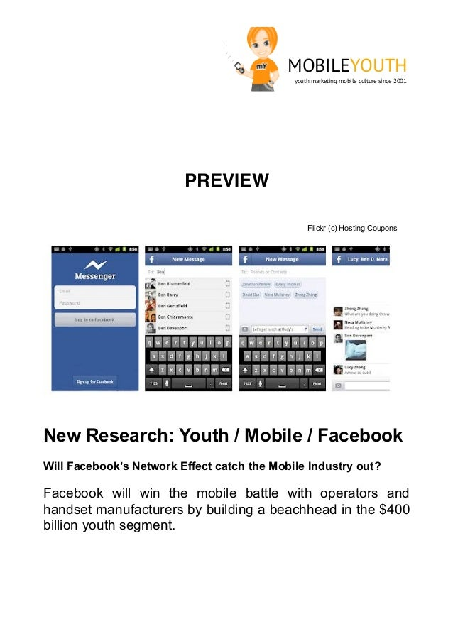 (mobileYouth) Download new research - Facebook + mobile + youth