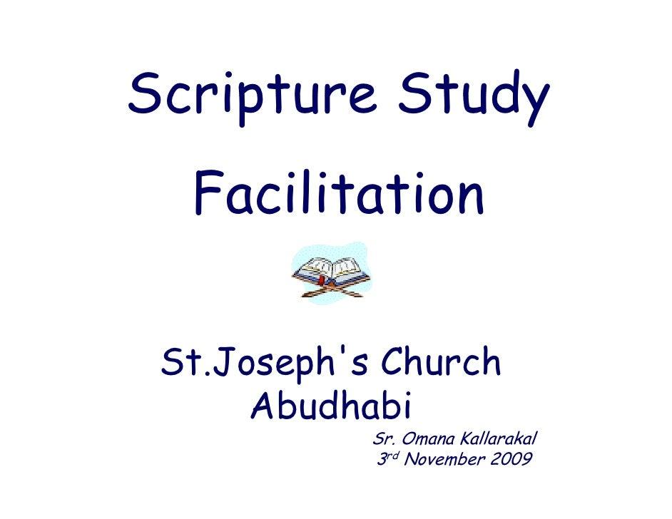 Scripture Study   Facilitation   St.Joseph s  St Joseph's Church       Abudhabi             Sr. Omana Kallarakal          ...