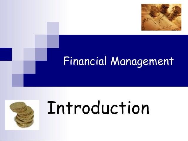 Financial Management Introduction