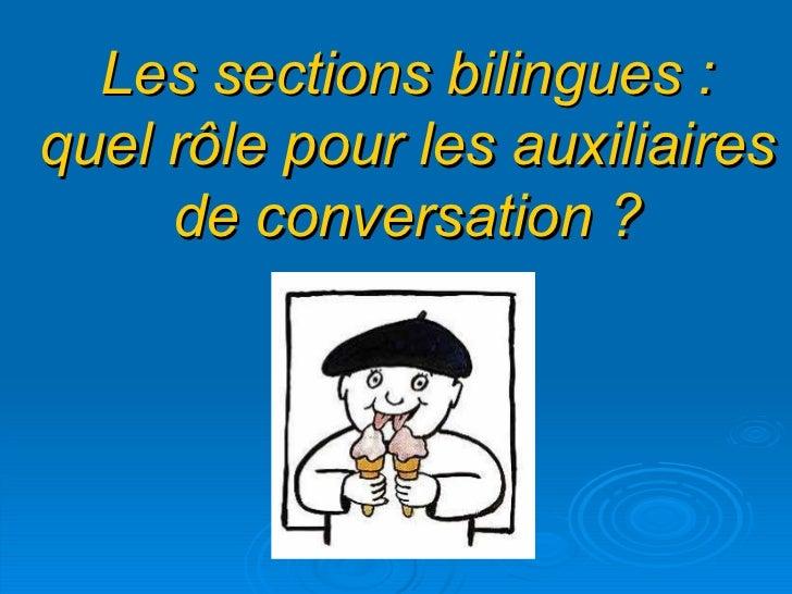 Les sections bilingues : quel rôle pour les auxiliaires de conversation ?
