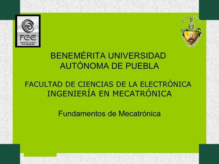 1 Fundamentos De Mecatronica U1
