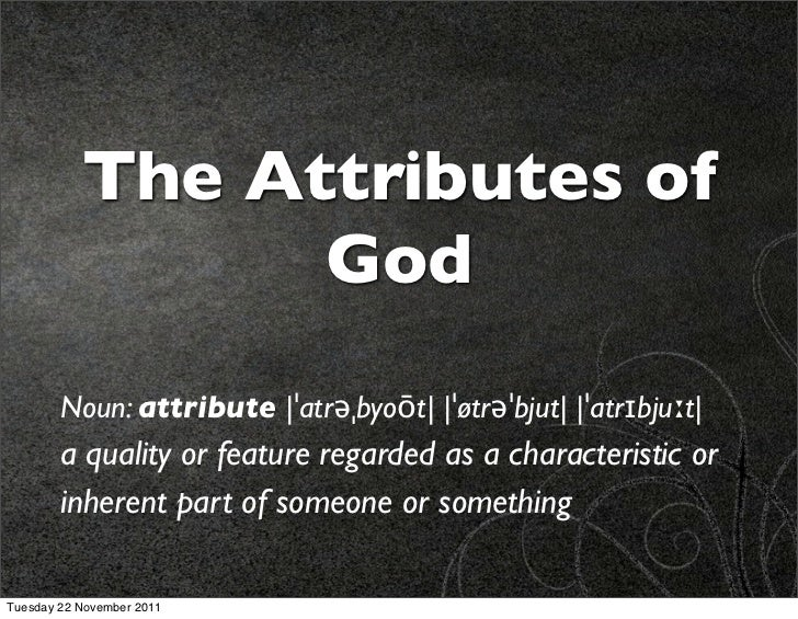 Gods attributes sufficiency