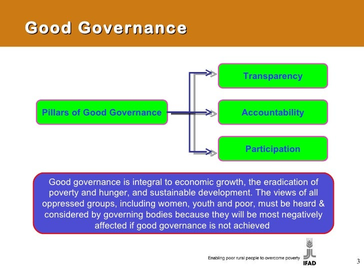 good governance Good corporate governance ensures that a businesses environment is fair and transparent and that employees can be held accountable for their actions conversely, weak corporate governance leads to waste, mismanagement, and corruption.