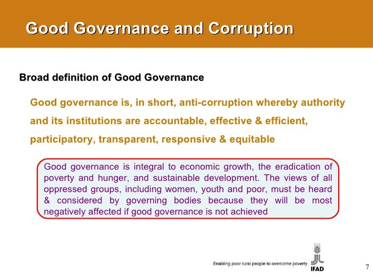 short essay on good governance In general, good governance is perceived as a normative principle of  administrative law, which obliges the state to perform its functions in a.