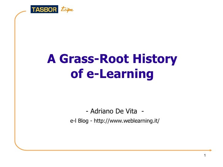 A grass-root history of e-learning