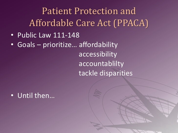 patient protection and affordable care act