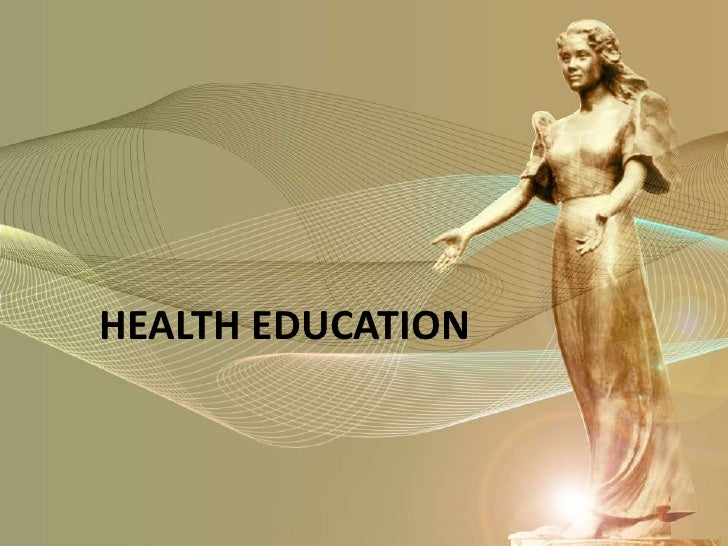 1. health education overview