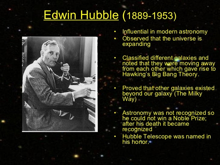 a biography of edwin hubble an american astronomer Edwin hubble's work produced a edwin powell hubble was with credits in sciences including physics and astronomy hubble spent the next three years on.