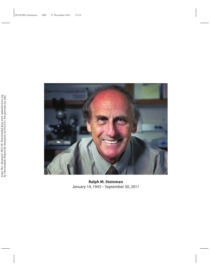 Annu. Rev. Immunol. 2012.30. Downloaded from www.annualreviews.org                                        by Universidade ...