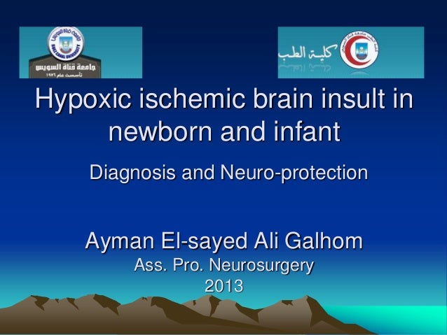 Hypoxic ischemic brain insult in newborn and infant Diagnosis and Neuro-protection  Ayman El-sayed Ali Galhom Ass. Pro. Ne...