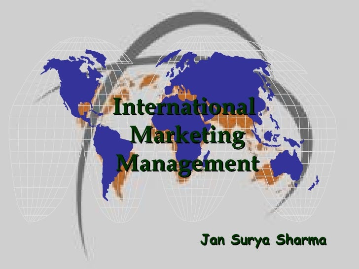 Jan Surya Sharma International  Marketing Management