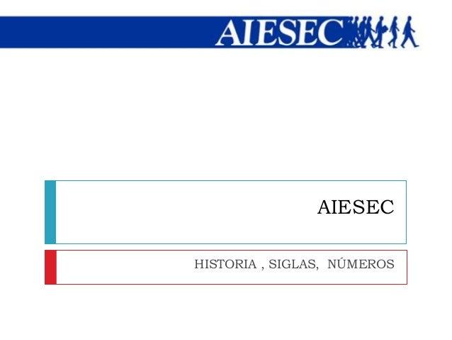 1. AIESEC: Historia