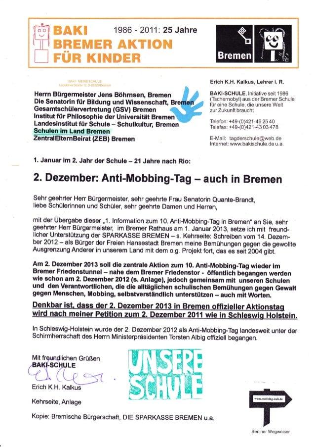 1. information zum 10. anti mobbing-tag 2013 in bremen