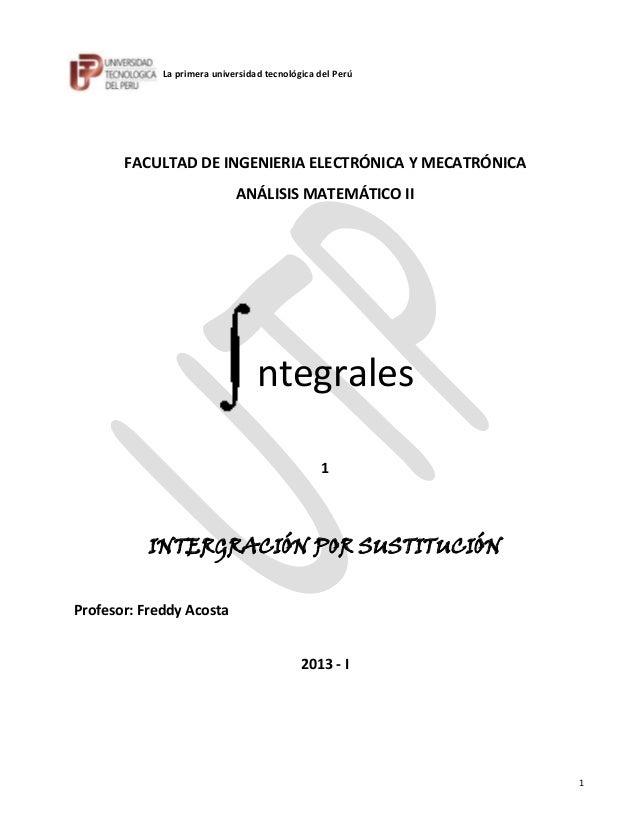 La primera universidad tecnológica del Perú       FACULTAD DE INGENIERIA ELECTRÓNICA Y MECATRÓNICA                        ...
