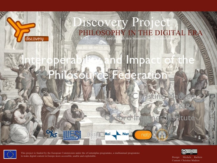 Interoperability And Impact in the Philosource Federation