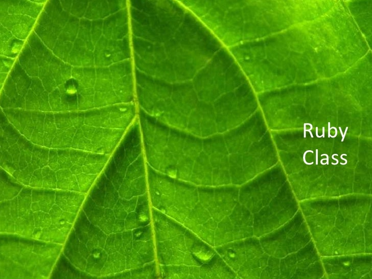 RubyClass<br />
