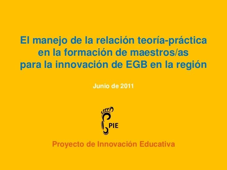 1. Teoría y práctica en formación docente