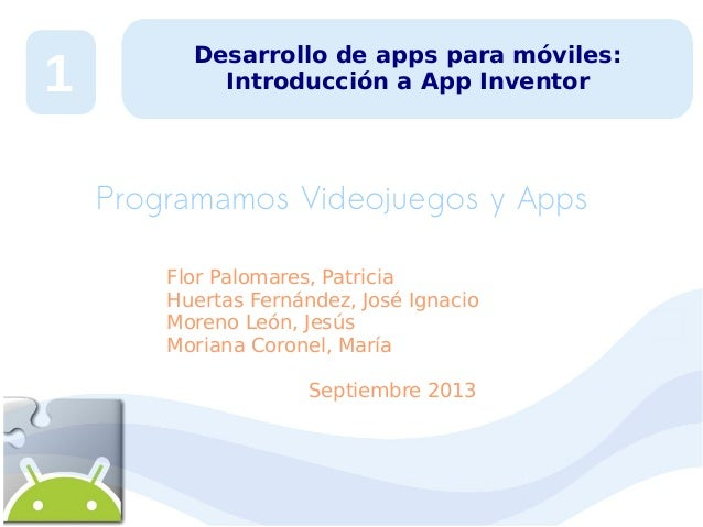 Desarrollo de Apps para móviles 1:  introducción app inventor