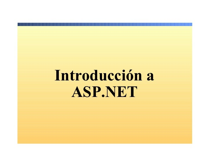 1.  Introduccion A Asp .Net