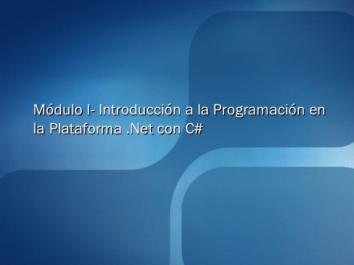 1 introduccion microsoft .net