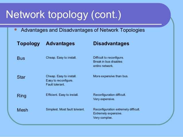 wireless network advantages and disadvantages Disadvantages of wireless connection  and if your wireless network is not secured to the same extent as your wired infrastructure, it could very easily end up in the wrong hands.