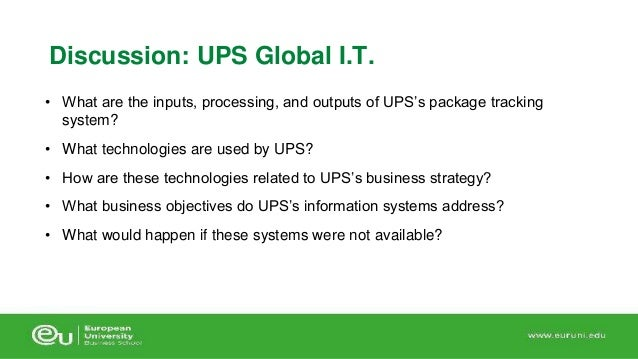 what strategic business objectives do ups s information systems address Chapter objectives  creates a strategic information security plan with a vision  in an organization's information systems and takes carefully.
