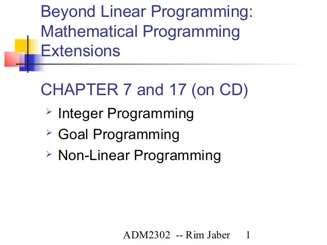 application of integer linear programing 1-16 of 911 results for application linear programming linear programming and its applications (undergraduate texts in mathematics) jul 25, 1989 by james k strayer hardcover $7199 $ 71 99 $8999 prime free shipping on eligible orders temporarily out of stock order now and we'll deliver when available.