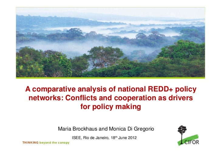 A comparative analysis of national REDD+ policy  networks: Conflicts and cooperation as drivers                for policy ...