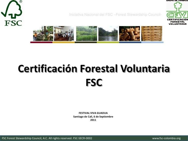 Iniciativa Nacional del FSC –Forest Stewardship Council-            Certificación Forestal Voluntaria                     ...