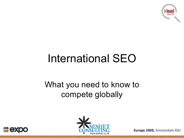 International SEO What you need to know to compete globally