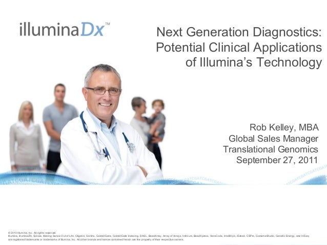 Next Generation Diagnostics: Potential Clinical Applications of Illumina'sTechnology