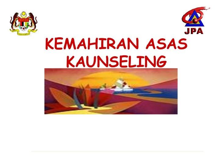 1.kemahiran asas kaunseling