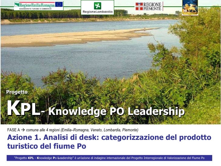 1.KPL- Analisi di desk sul prodotto Po- Turismo fluviale