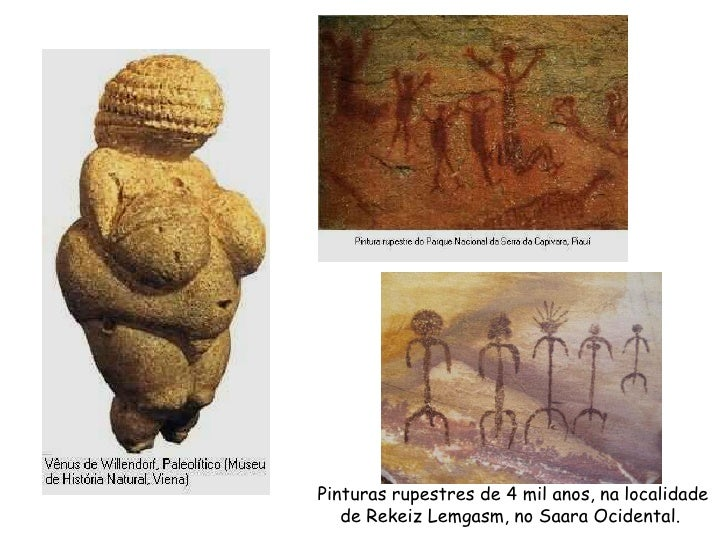 Pinturas rupestres de 4 mil anos, na localidade   de Rekeiz Lemgasm, no Saara Ocidental.