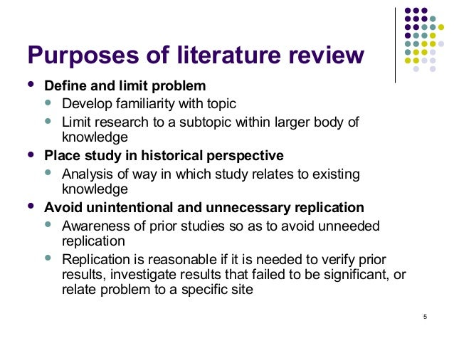purposes of literature review slideshare