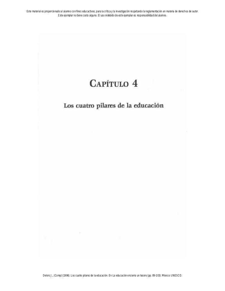 1. los 4 pilares de la educación