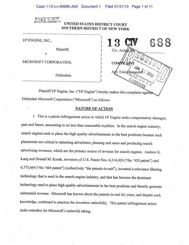 Case 1:13-cv-00688-JGK Document 1   Filed 01/31/13 Page 1 of 11
