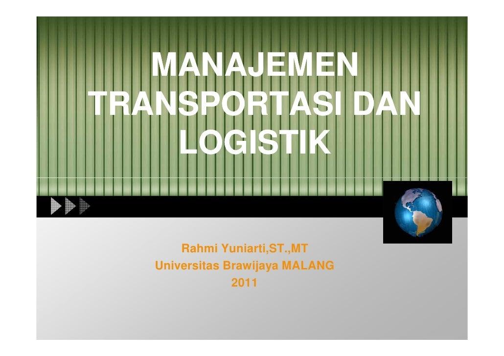 Manajemen Logistik I