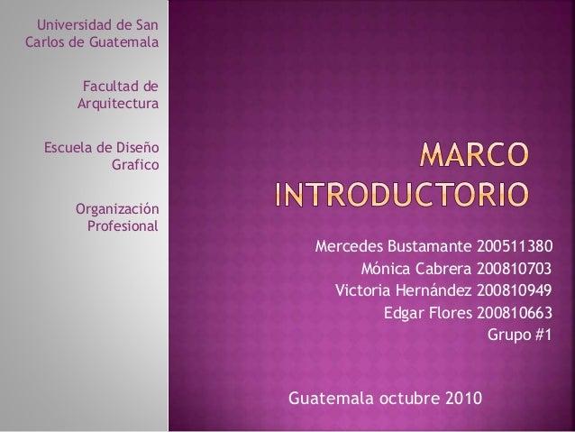 Universidad de San Carlos de Guatemala Facultad de Arquitectura Escuela de Diseño Grafico Organización Profesional Guatema...