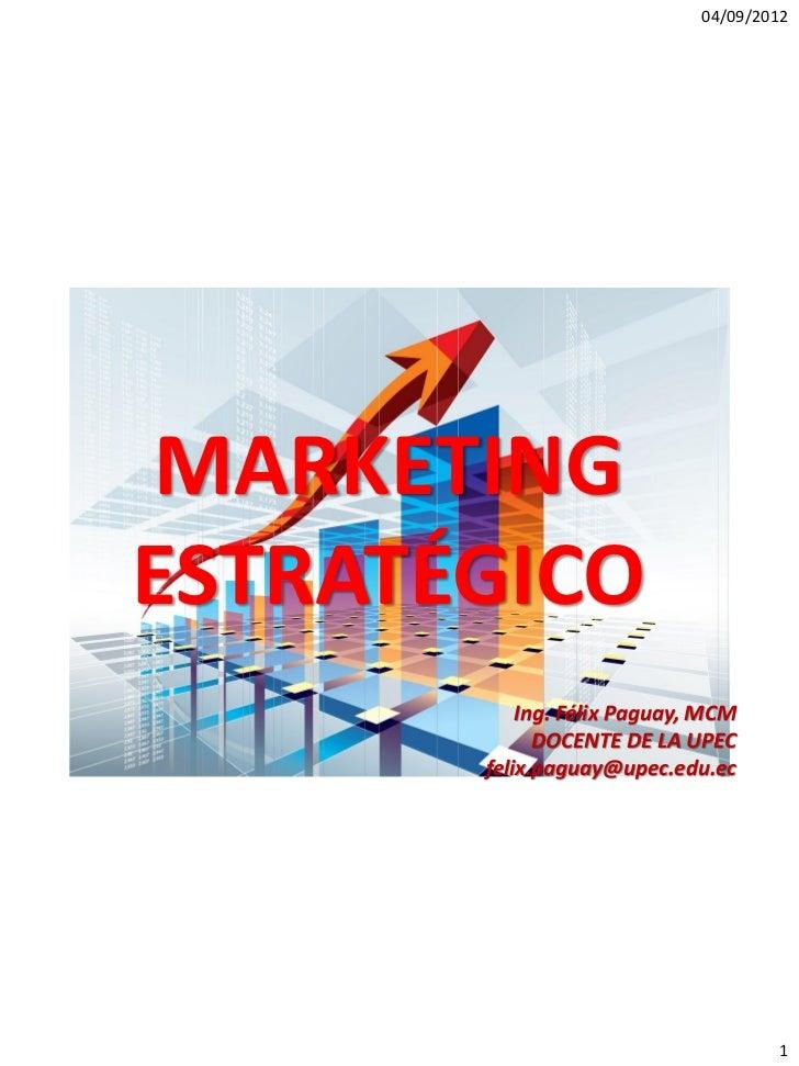 1. marketing estratégico
