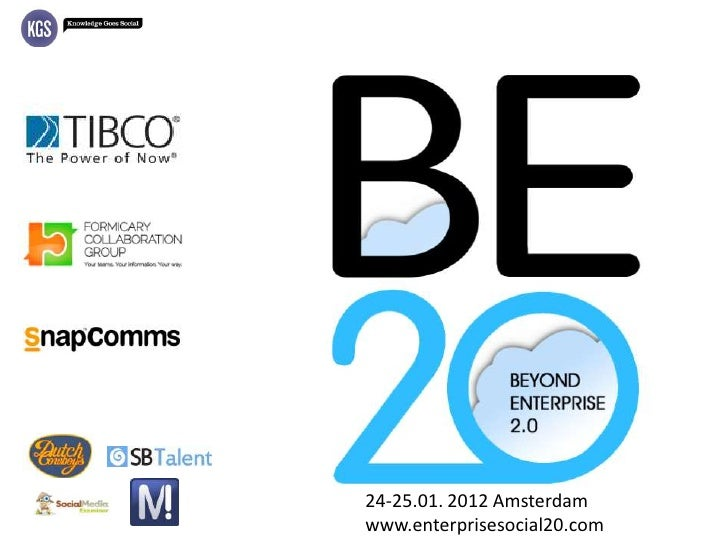Beyond Enterprise 2.0 agenda, Amsterdam, 24-25 January 2012