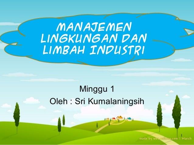 manajemen lingkungan dan limbah industri
