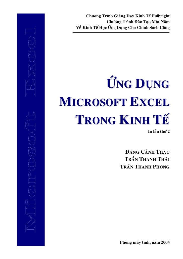 1. Ms Excel Ung Dung Trong Kinh Te (Phan I)
