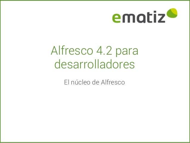 Alfresco 4.2 para desarrolladores El núcleo de Alfresco