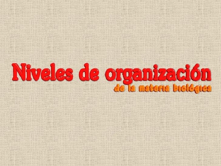 1. Niveles De OrganizacióN 2009