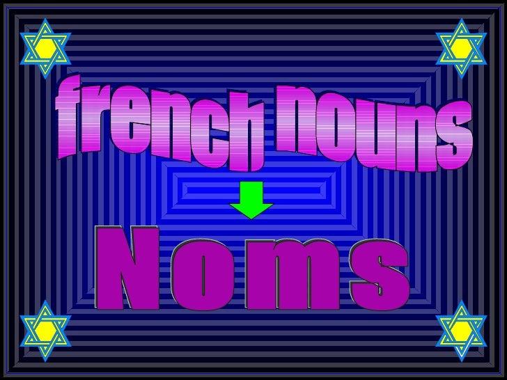 #1  French Nouns 01