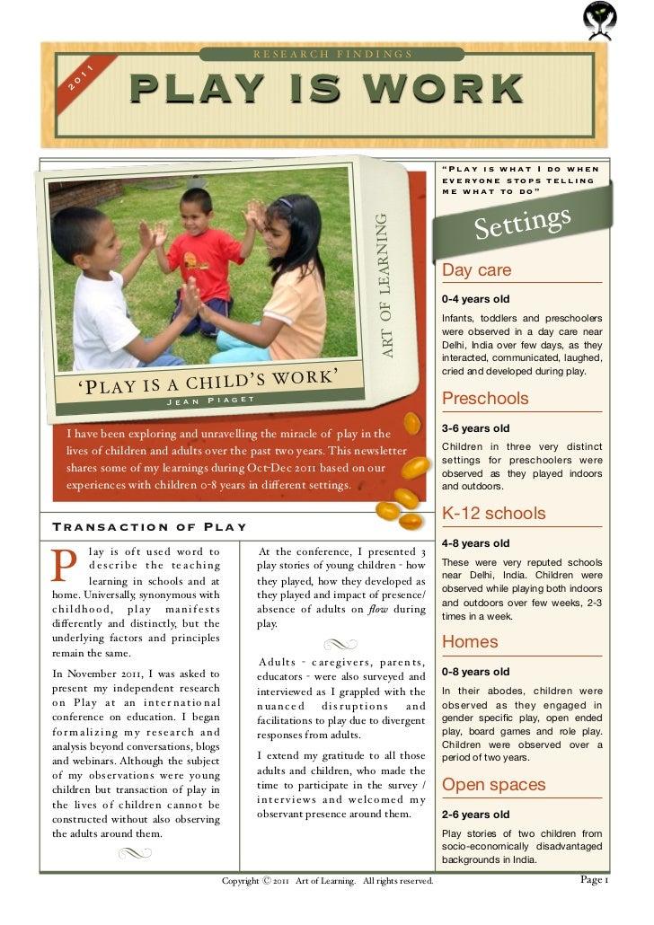 Play Newsletter: Nov-Dec 2011
