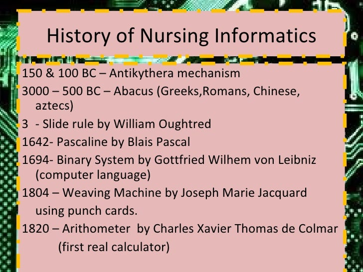Nursing research papers history topics